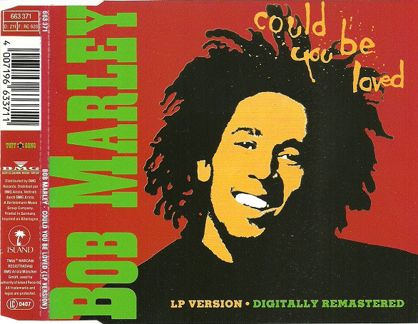 BOB MARLEY &AMP, THE WAILERS - Could You Be Loved - CD single