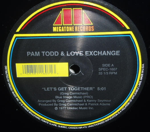 PAM TODD - Let`s Get Together / Living For The City - Maxi x 1