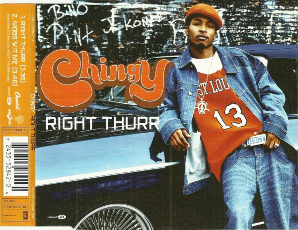 CHINGY - Right Thurr - CD single