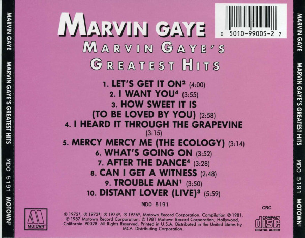 Marvin Gaye Marvin Gaye`s Greatest Hits