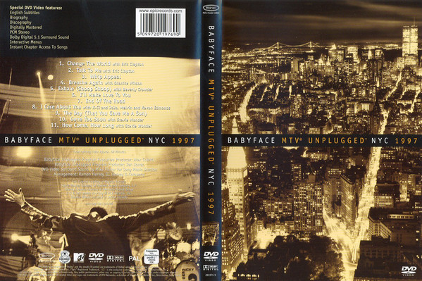 BABYFACE - MTV Unplugged NYC 1997 - DVD