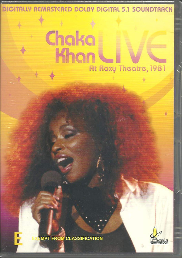 CHAKA KHAN - Live At Roxy Theatre - DVD