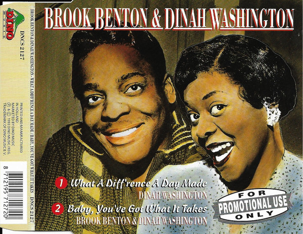 BROOK BENTON - What A Diff`rence A Day Makes / Baby, You`ve Got What It Takes - CD single