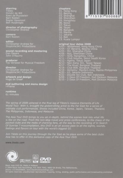 TIESTO - ASIA TOUR DVD (nieuw) - DVD