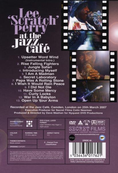 PERRY, LEE - LIVE AT THE JAZZ CAFE (nieuw) - DVD