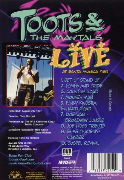 TOOTS &AMP, THE MAYTALS - LIVE AT SANTA MONICA PIER (nieuw) - DVD