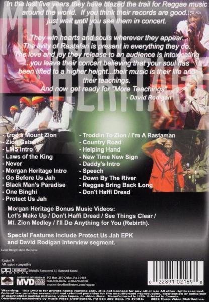 MORGAN HERITAGE - LIVE AT LONDON ASTORIA (nieuw) - DVD