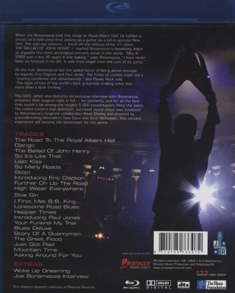 JOE BONAMASSA - LIVE FROM THE ROYAL.. (nieuw) - Blu-ray Disc