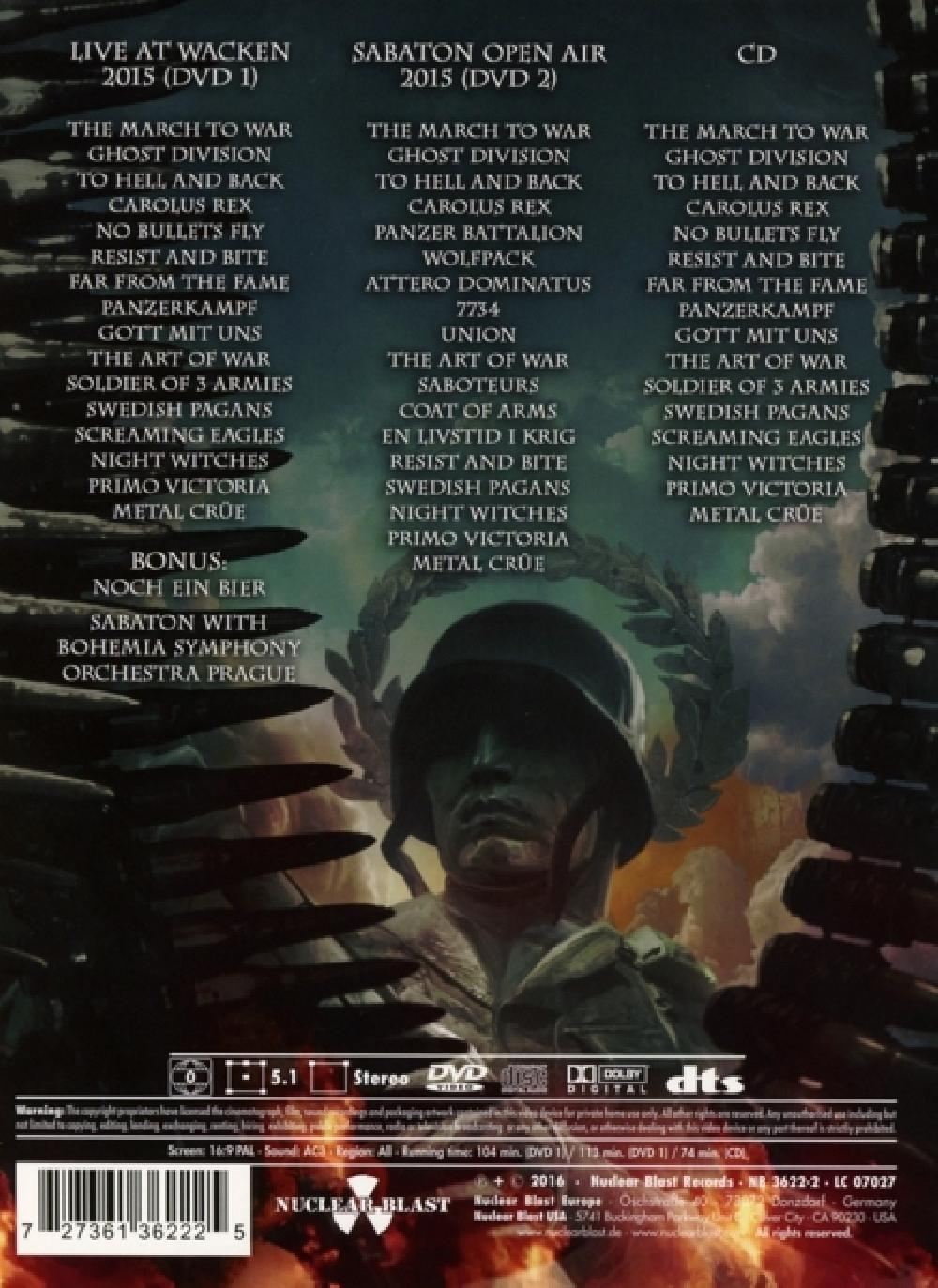sabaton HEROES ON TOUR -DVD+CD- (nieuw)