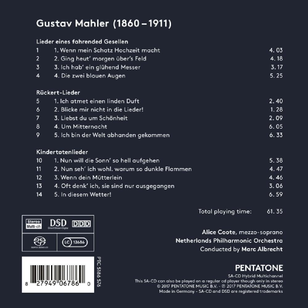 g. mahler SONG CYCLES -SACD- (nieuw)
