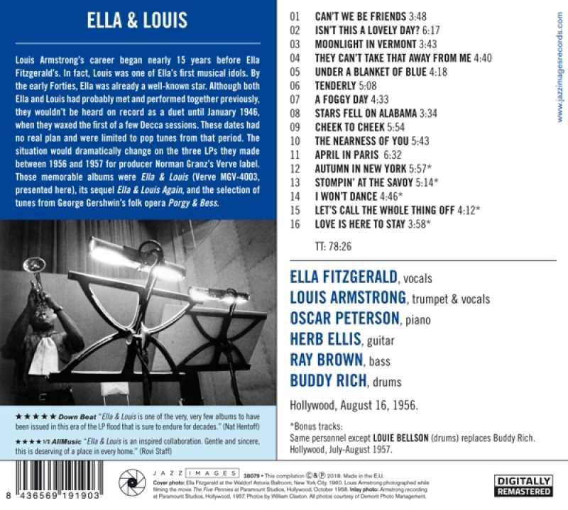 ELLA FITZGERALD &, LOUIS ARMSTRONG - ELLA &, LOUIS (nieuw) - CD